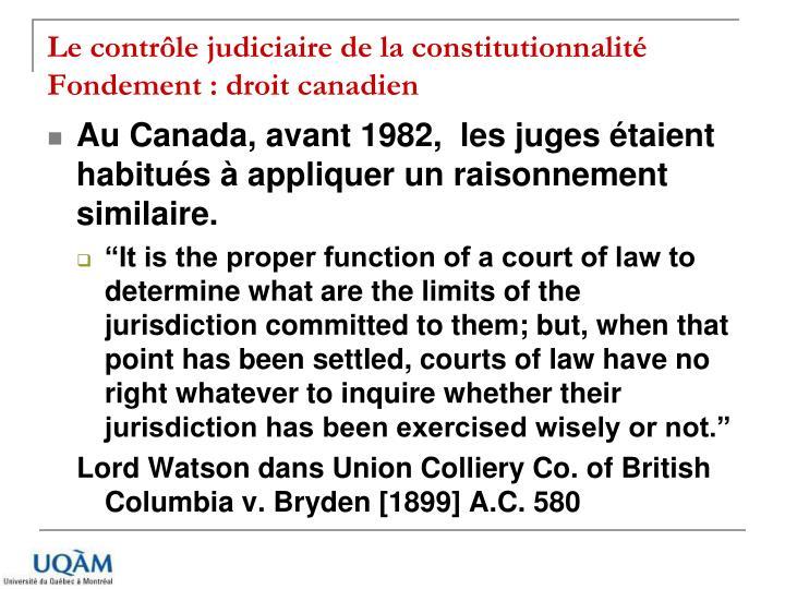 Le contrôle judiciaire de la