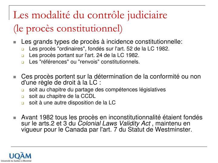 Les modalité du contrôle judiciaire