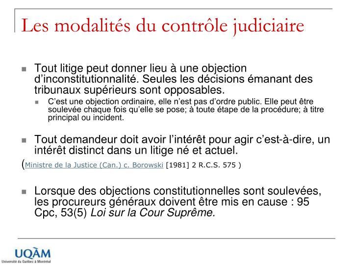 Les modalités du contrôle judiciaire