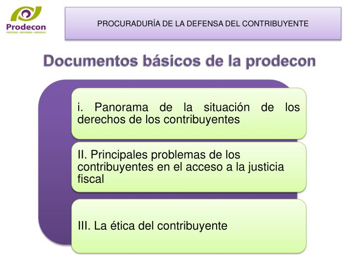Documentos b sicos de la prodecon