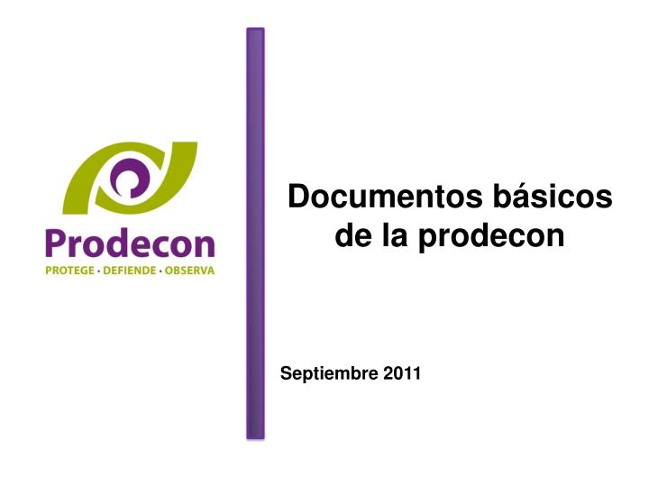 Documentos básicos de la