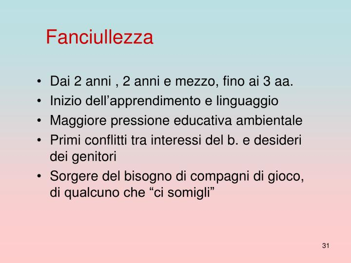 Fanciullezza