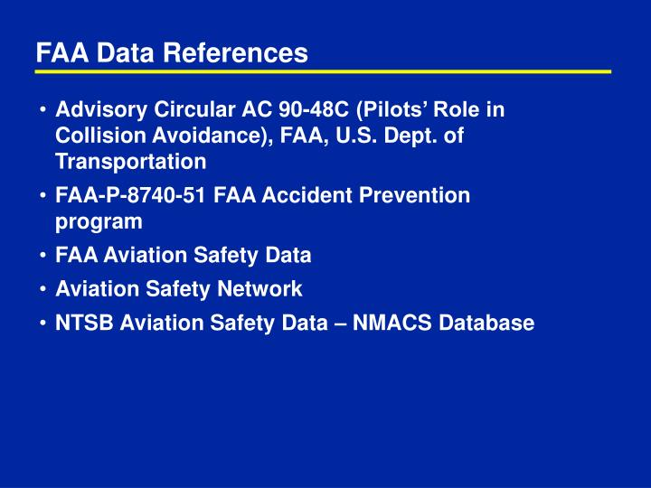 Faa data references