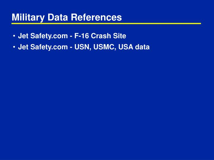 Military Data References