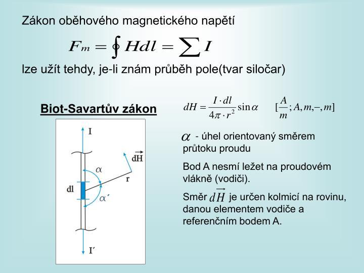 Zákon oběhového magnetického napětí