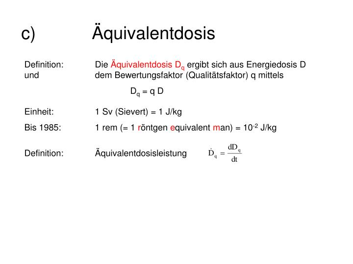 Definition:Äquivalentdosisleistung