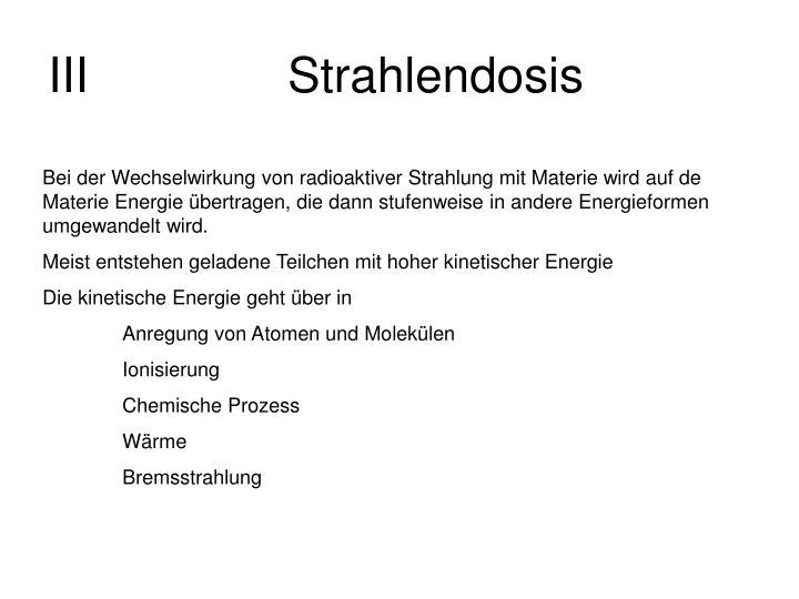 IIIStrahlendosis