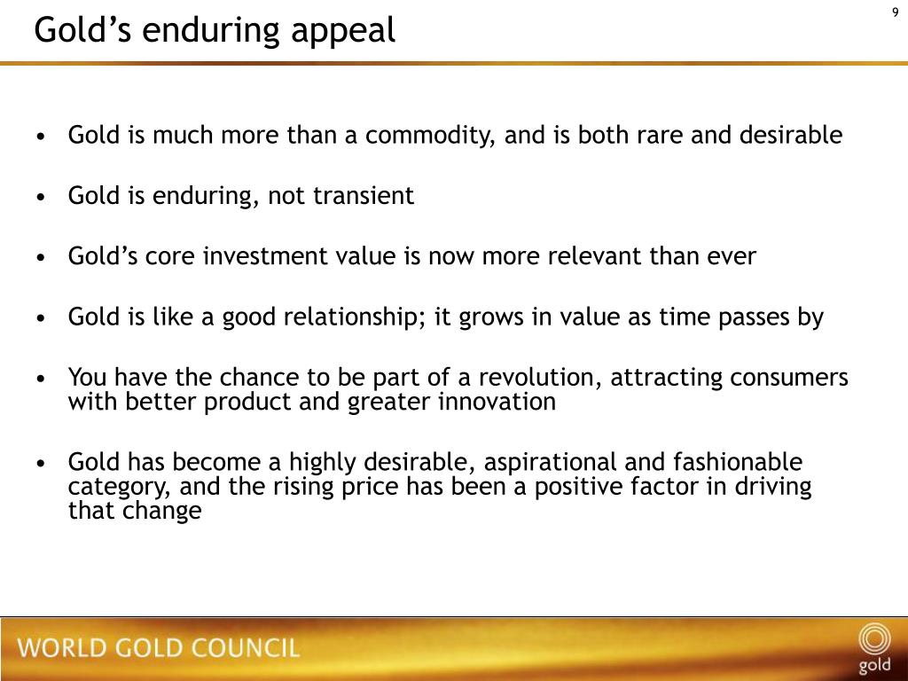 Gold's enduring appeal