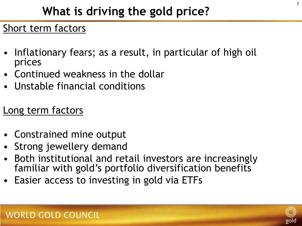 What is driving the gold price?