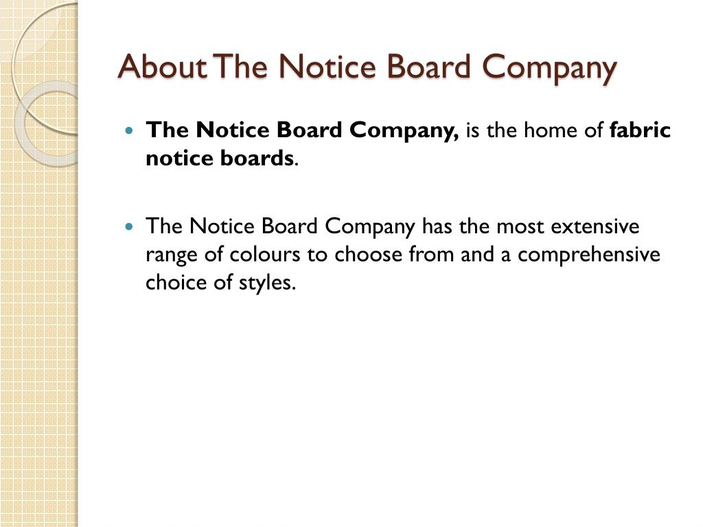 About The Notice Board Company
