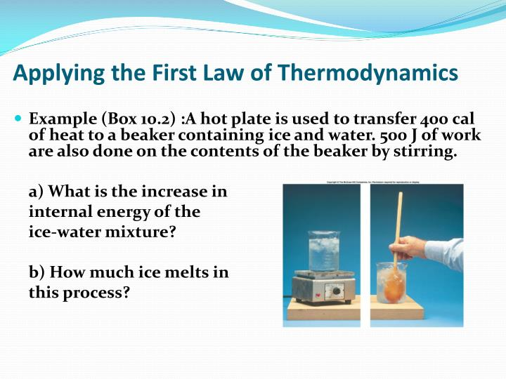 Applying the First Law of Thermodynamics