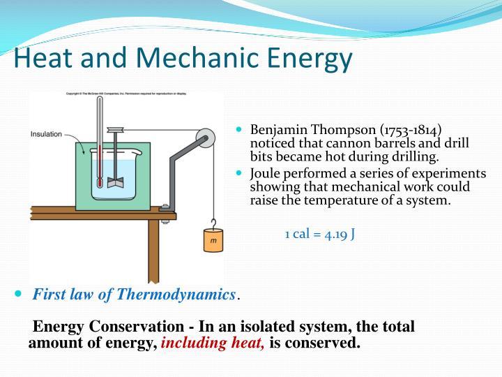 Heat and Mechanic Energy