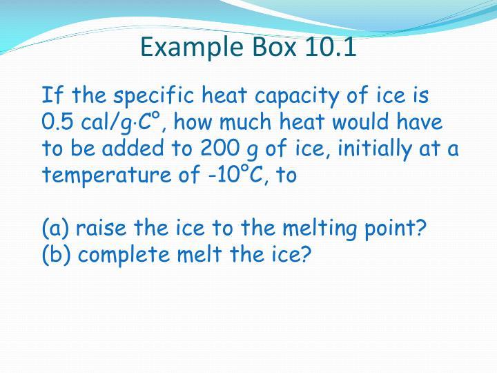 Example Box 10.1