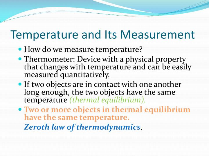 Temperature and Its Measurement