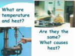 what are temperature and heat