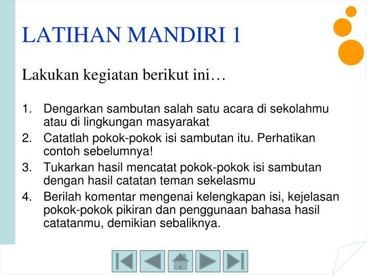 LATIHAN MANDIRI 1