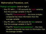mathematical procedure cont1
