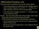 mathematical procedure cont2