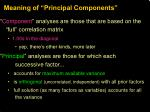 meaning of principal components