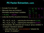 pc factor extraction cont