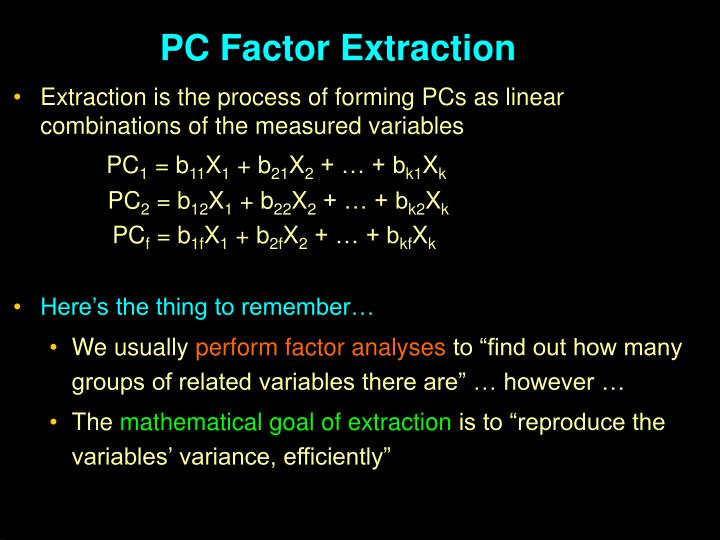 PC Factor Extraction