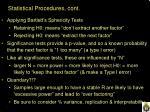 statistical procedures cont