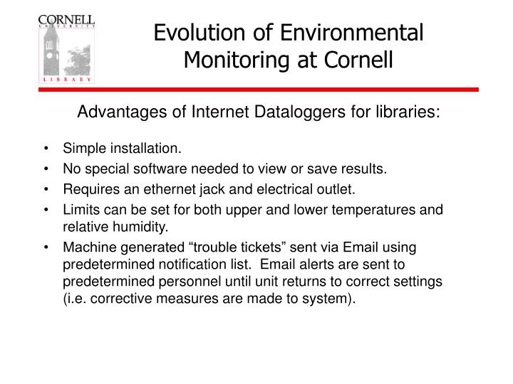Advantages Of Internet Monitor System : Ppt conservation liaison specialist cornell university