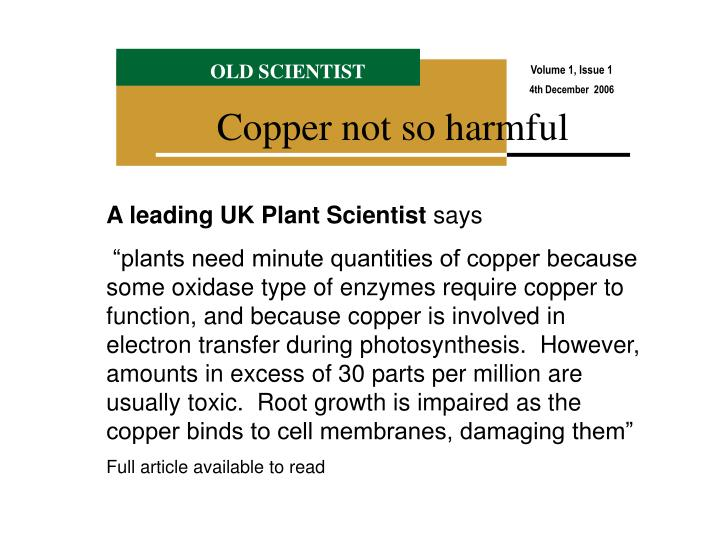 A leading UK Plant Scientist