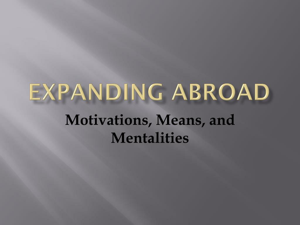 Expanding Abroad