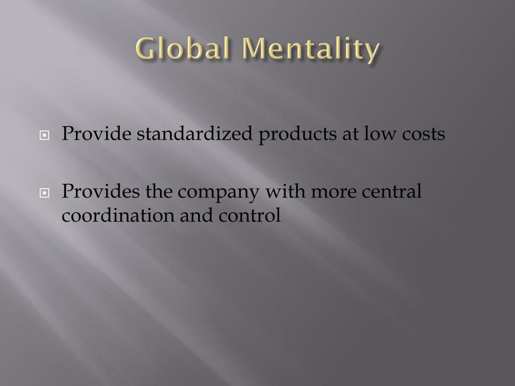 Global Mentality