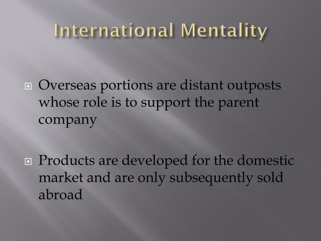 International Mentality