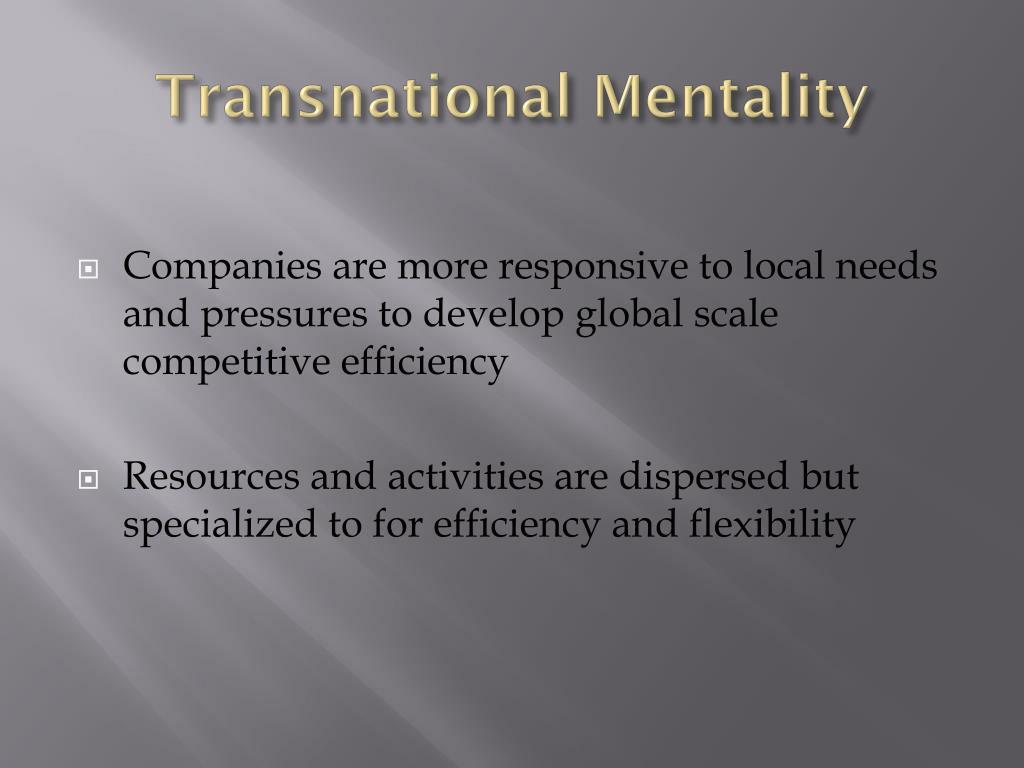 Transnational Mentality