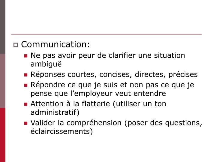 Communication: