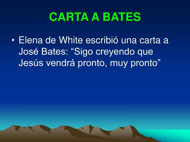 CARTA A BATES