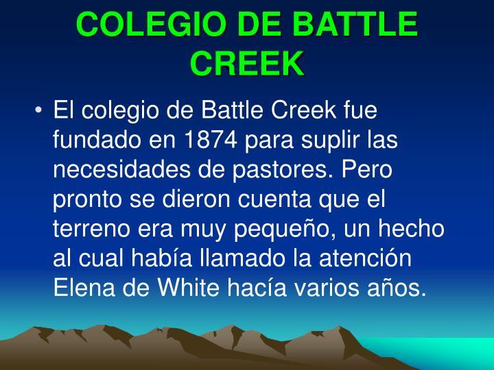 COLEGIO DE BATTLE CREEK