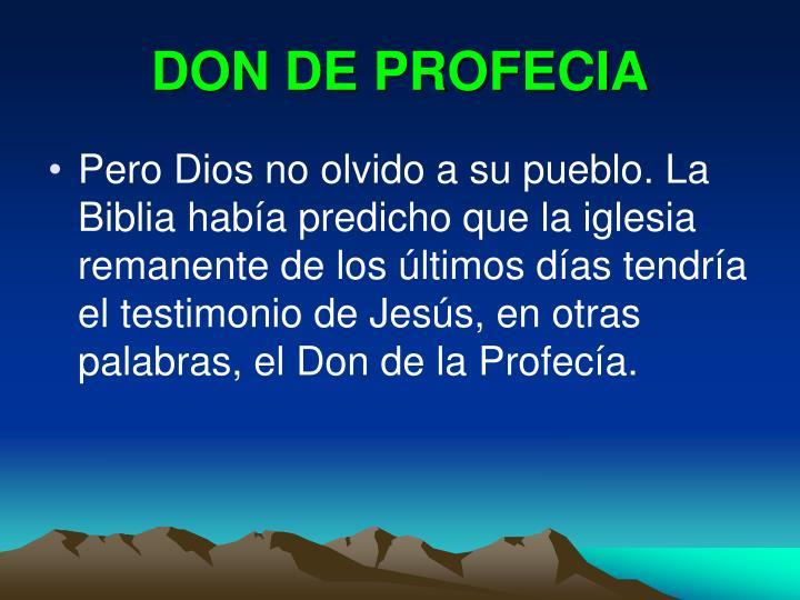 DON DE PROFECIA