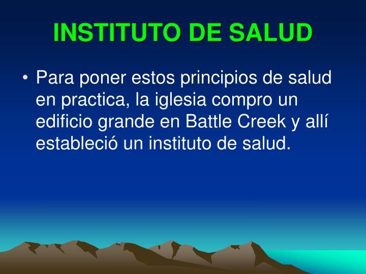 INSTITUTO DE SALUD