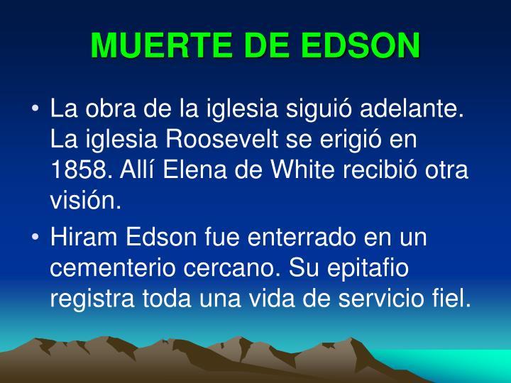MUERTE DE EDSON
