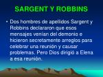 sargent y robbins