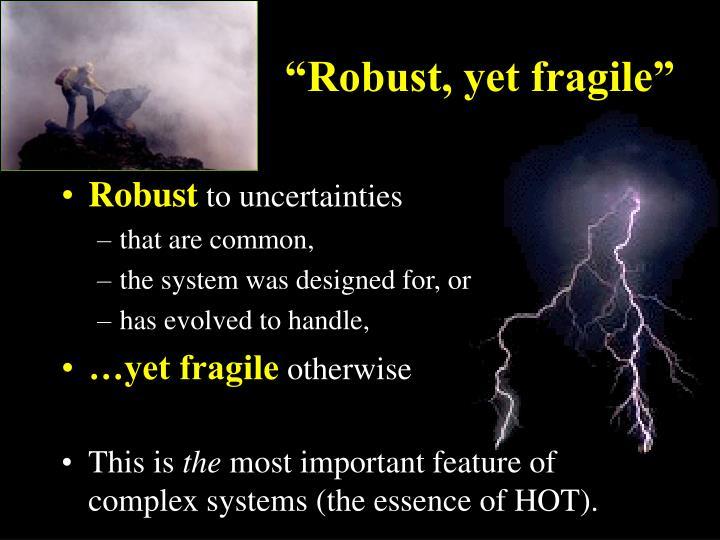 """Robust, yet fragile"""