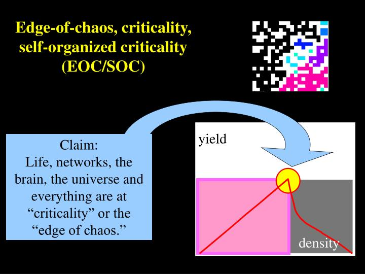 Edge-of-chaos, criticality,