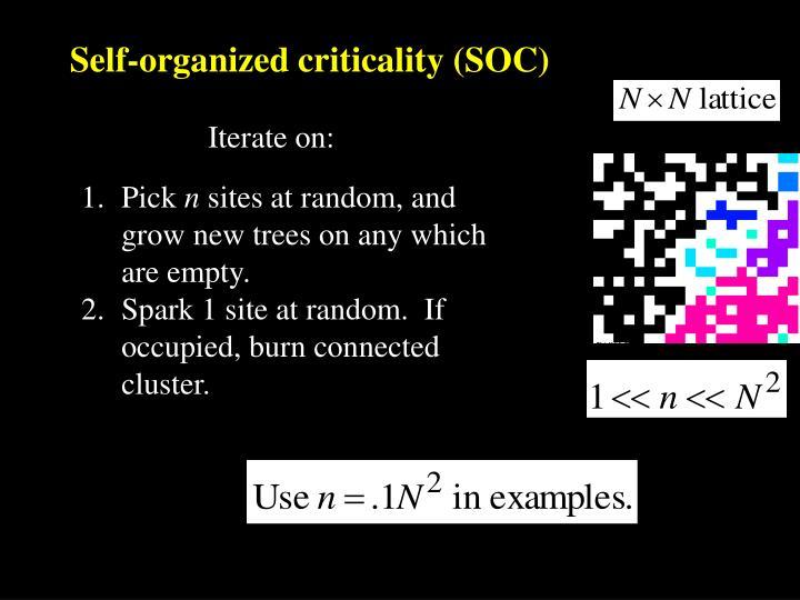 Self-organized criticality (SOC)