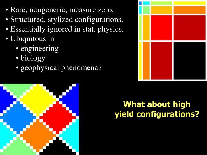 Rare, nongeneric, measure zero.