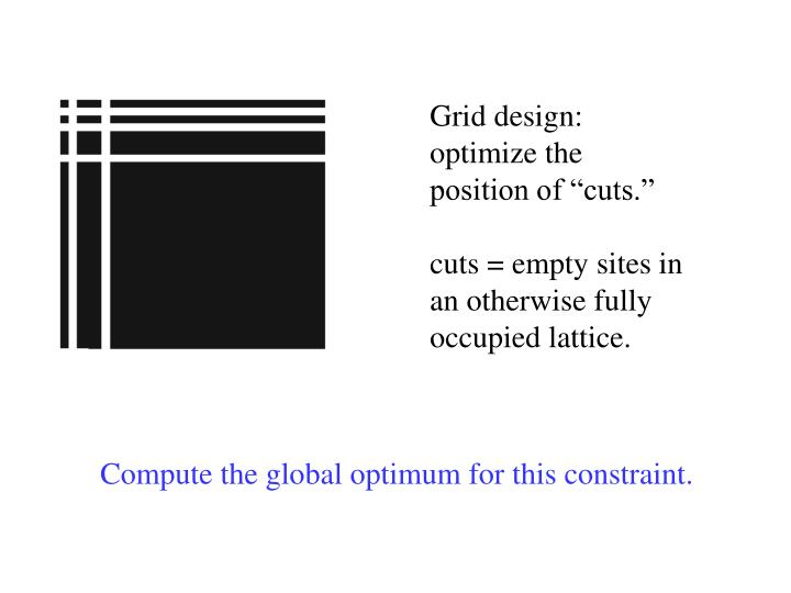 "Grid design: optimize the position of ""cuts."""