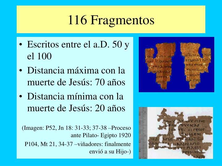 116 Fragmentos