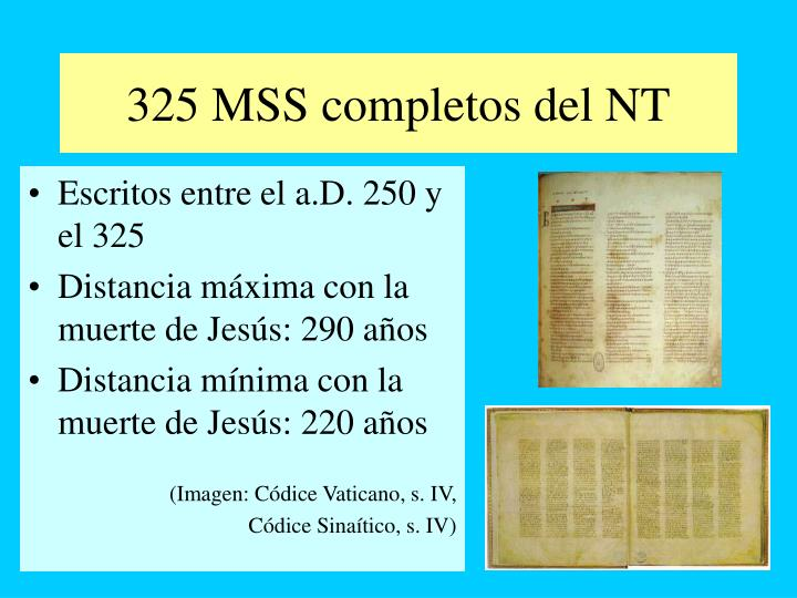 325 MSS completos del NT