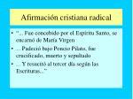 afirmaci n cristiana radical