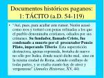 documentos hist ricos paganos 1 t cito a d 54 119