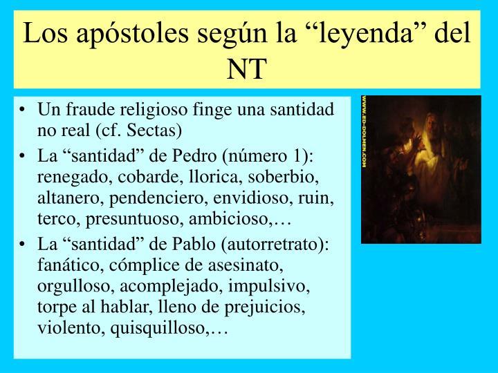 """Los apóstoles según la """"leyenda"""" del NT"""