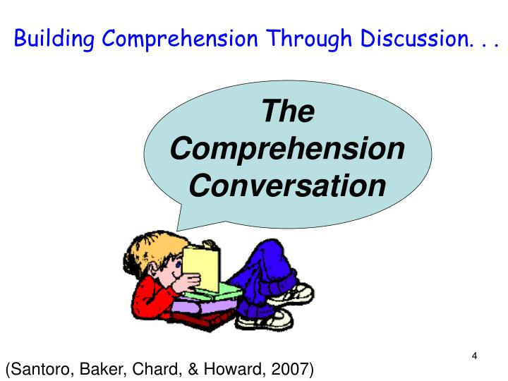 Building Comprehension Through Discussion. . .